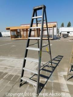 8' Greenbull Fiberglass Folding Ladder