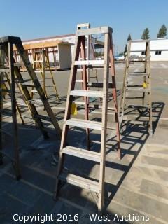 6' Louisville Fiberglass Folding Ladder