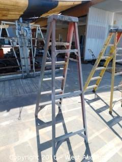 6' Werner Fiberglass Folding Ladder