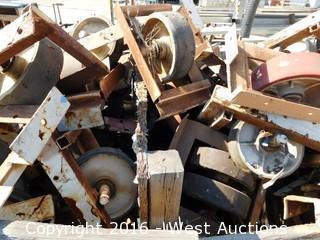 "Bulk Lot (2) Crates of Heavy Duty 12"" Yard Casters"