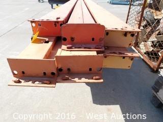 (6) 9' Pallet Rack Crossbeams