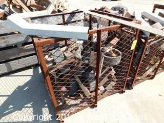 "41""x41"" Steel Basket with Yard Casters"