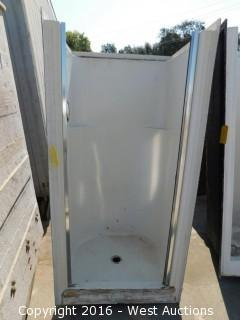 "Walk-In Walled Shower Pan 29""x30""x70"""