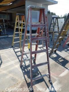 6' Fiberglass Folding Ladder