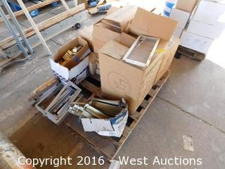 Pallet of Foundation Vents and Steel Parts
