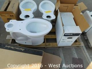 American Standard Toilet Bowl and Kohler Tank