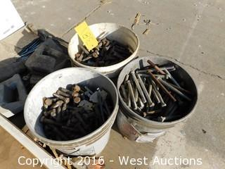 Bulk Lot Pallet of Hardware; Bolts, Nuts, Screws