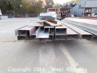 (3) Pallets, (1) Rack of Gutters and Downspouts