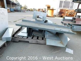 (3) Pallets of Sheet Metal Ducting