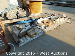 Pallet with Conduits, Pipes and Electrical Boxes