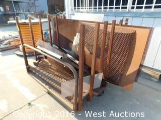 Steel Material Cart with Steel Boards