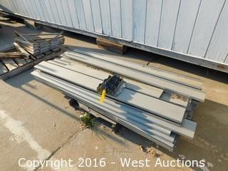 """Pallet with 6'x71"""" Galvanized Steel Studs"""