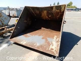 Forklift Dump Bin with Base