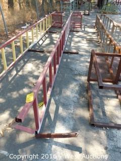 Welded Metal Ladder and Landing
