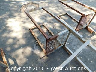 Welded Metal Ladder and Landing