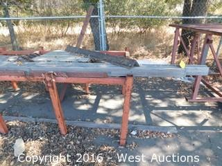 "98""x56"" Welded Steel Table"