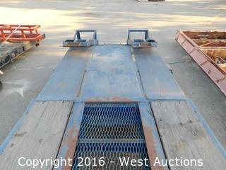 1968 Nabors Dual Axle Drop Deck Trailer with Ramps