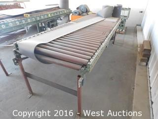 (2) Roller Feed Tables