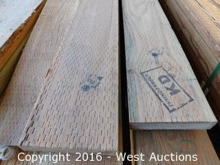 Lot with Loose Boards Above Ground Pressure Treated Lumber