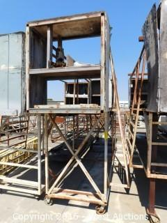 Portable Scaffolding with End Cabinets
