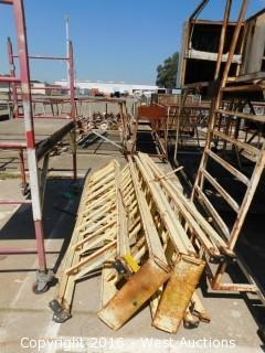 (4) Scaffold Access Ladders 8'
