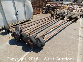 (6) Portable Building Axles