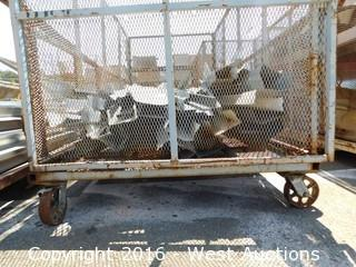 Portable Cage and Sheet Metal Scrap