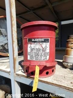 6 Gallon Oil Rag Canister