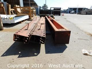 (3) Heavy Cantilever Rack Sections
