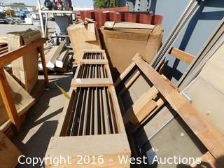Large Pallet of Metal Frames without Glass Panels