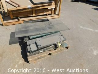 Pallet of Assorted Glass Panels, Single and Double Glazed