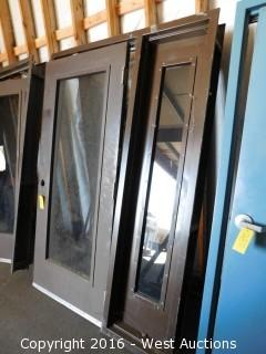 Encased Metal Door with Side Vent