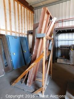 Encased Hardwood Decorative Entry Door with Side Vent