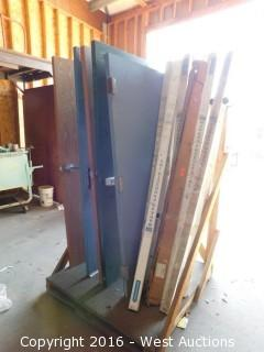 Pallet of Commercial Solid Core Doors and Piano Hinges