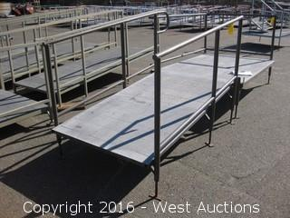 7'x4' Steel Deck Ramp with Adjustable Height Legs