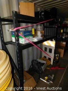 Contents of Rack - Signs, Spill Kit and more