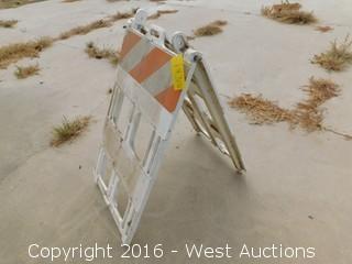 (5) Folding A Frame Barricades