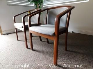 (2) Wood Office Visitor Chairs