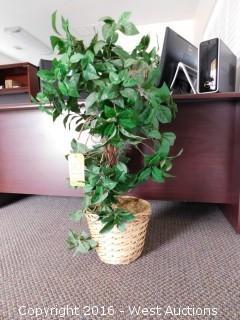 (3) Faux Decorative Plants