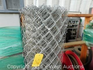 Coil of 4' Chain Link Fence