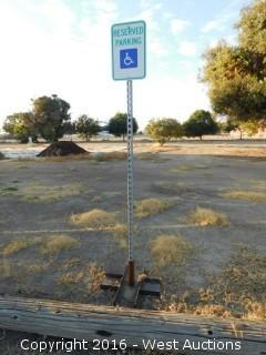 (7) Portable Visitor/Reserved Parking Signs