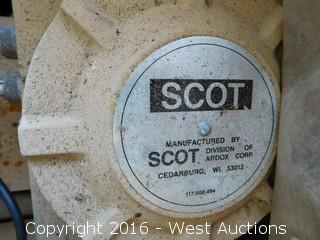 Scot Frame Mounted Electric Fuel Pump with Hose, Nozzle and Fittings