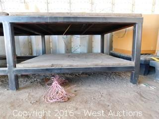 10'x5' Steel Framed Table