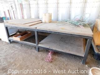 10'x5' Steel Framed Table