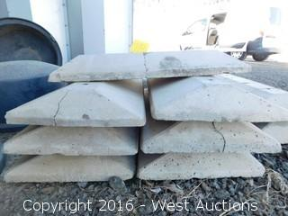 "(9) 30""x16"" Concrete Speed Bumps"