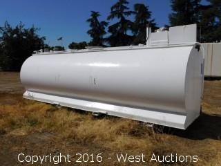 Sannipoli Tank Corp 3000 Gallon Above Ground UL 2085 Fuel Tank