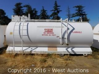 Sannipoli Tank Corp 3,000 Gallon Above Ground UL 2085 Fuel Tank