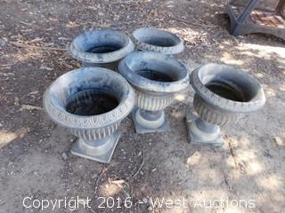(2) Fire Pits and (5) Plant Pots