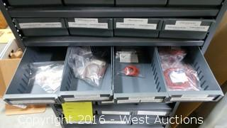 Metal 52-Drawer Cabinet with Gaskets and O-Rings
