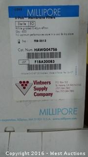 (4) Millipore S-Pak Membrane Filters .45u